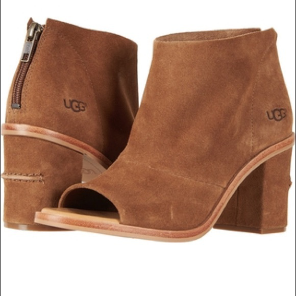 9668497a9a8 Ugg ginger suede heeled booties nwt NWT